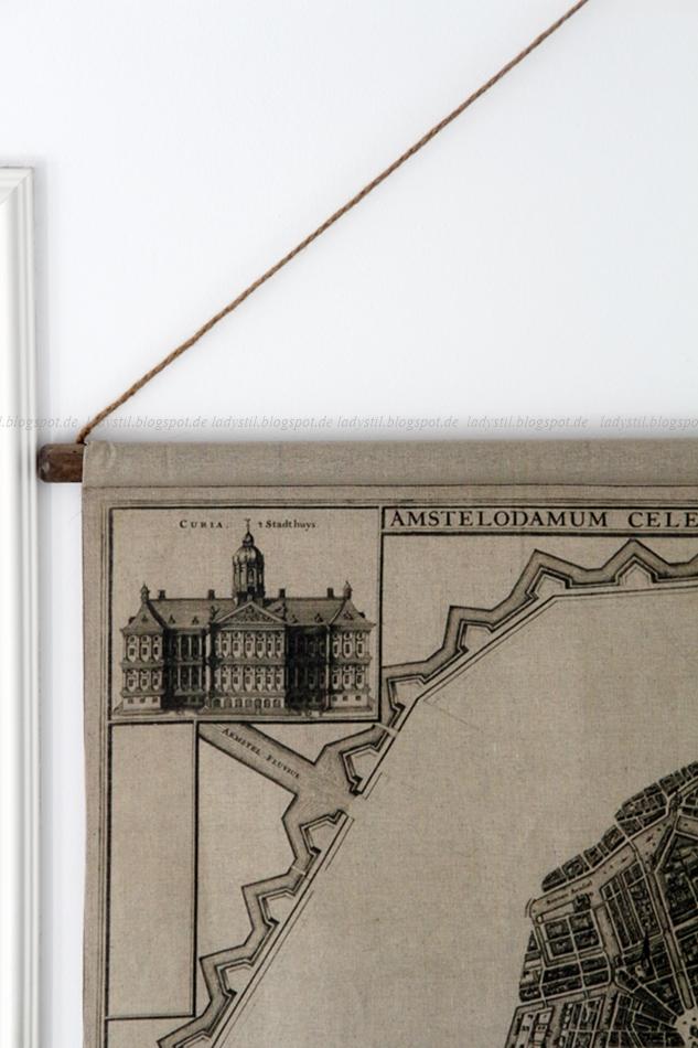 Amsterdam Wandkarte