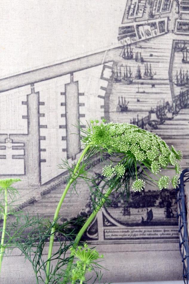 UJB Flower vor Amsterdam Wandkarte