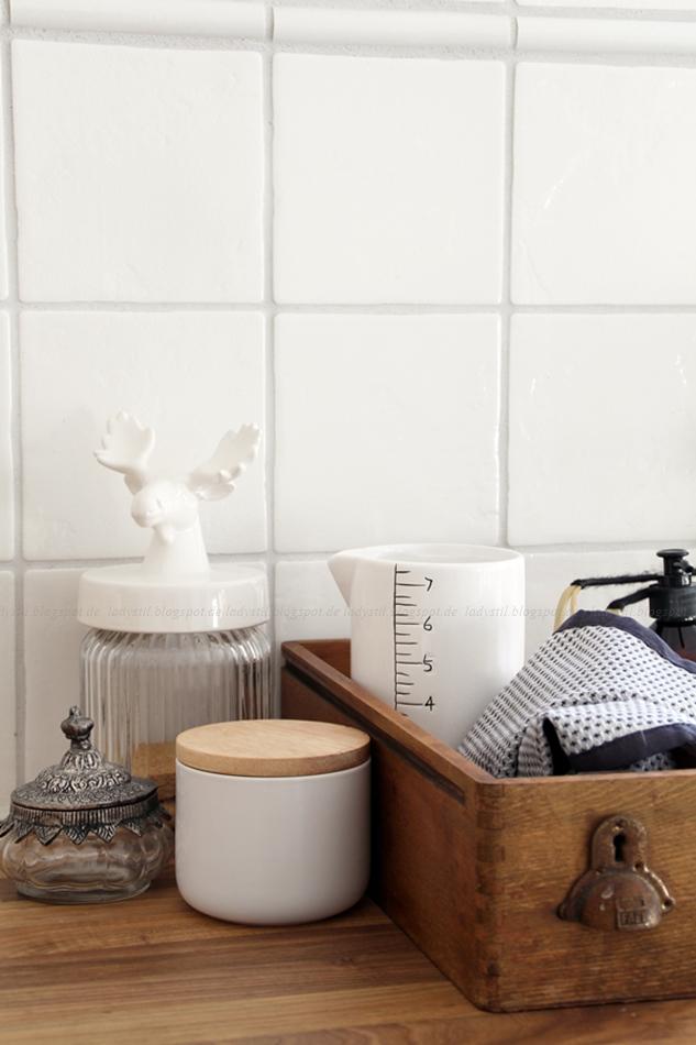 Küchen Deko weiß Holz