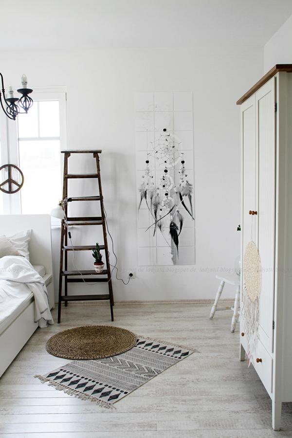 Wanddekoration mit IXXIdesign, originelle Bilder zum Selbergestalten, Schlafzimmer einrichten mit stylischen Fotos für die Wand, Traumfänger, Schlafzimmer einrichten, Überblick