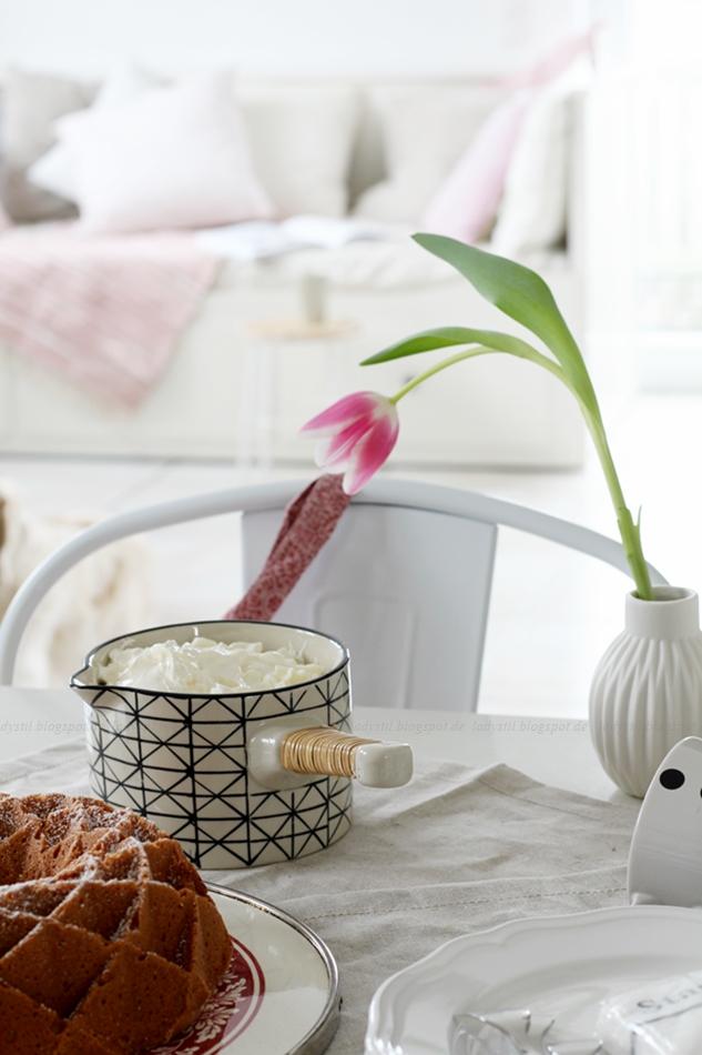 Mit leichten Pastellfarben zieht der Frühling in die Küche ein! Küchenumstyling mit neuen Gelenk-Lampen!