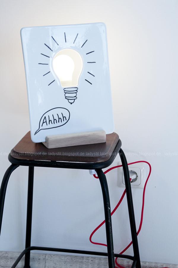 Lampe zum Selberbeschriften