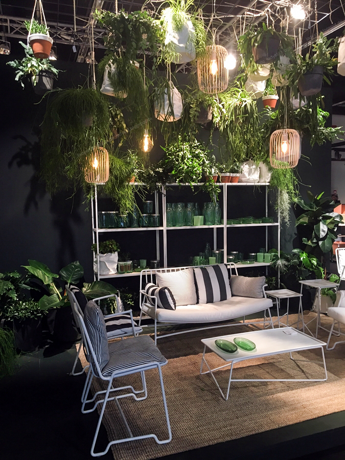 Thema Pflanzen Internationalen Möbelmesse imm2017 in Köln mit Herstellern wie String, Vita, Bloomingville,Cane-line und Carolijn Slottje