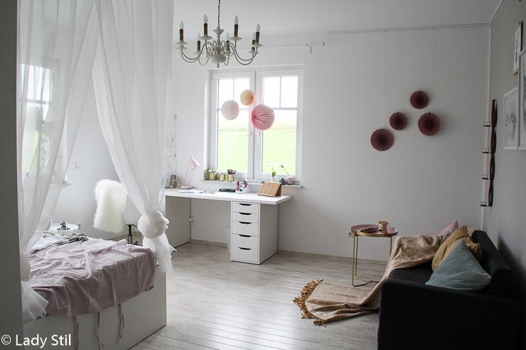 Makeover Mädchen Kinderzimmer rosa weiß grau