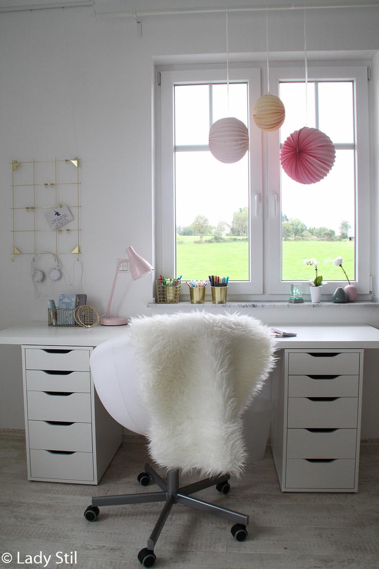 Makeover Kinderzimmer Mädchcen rosa weiß grau