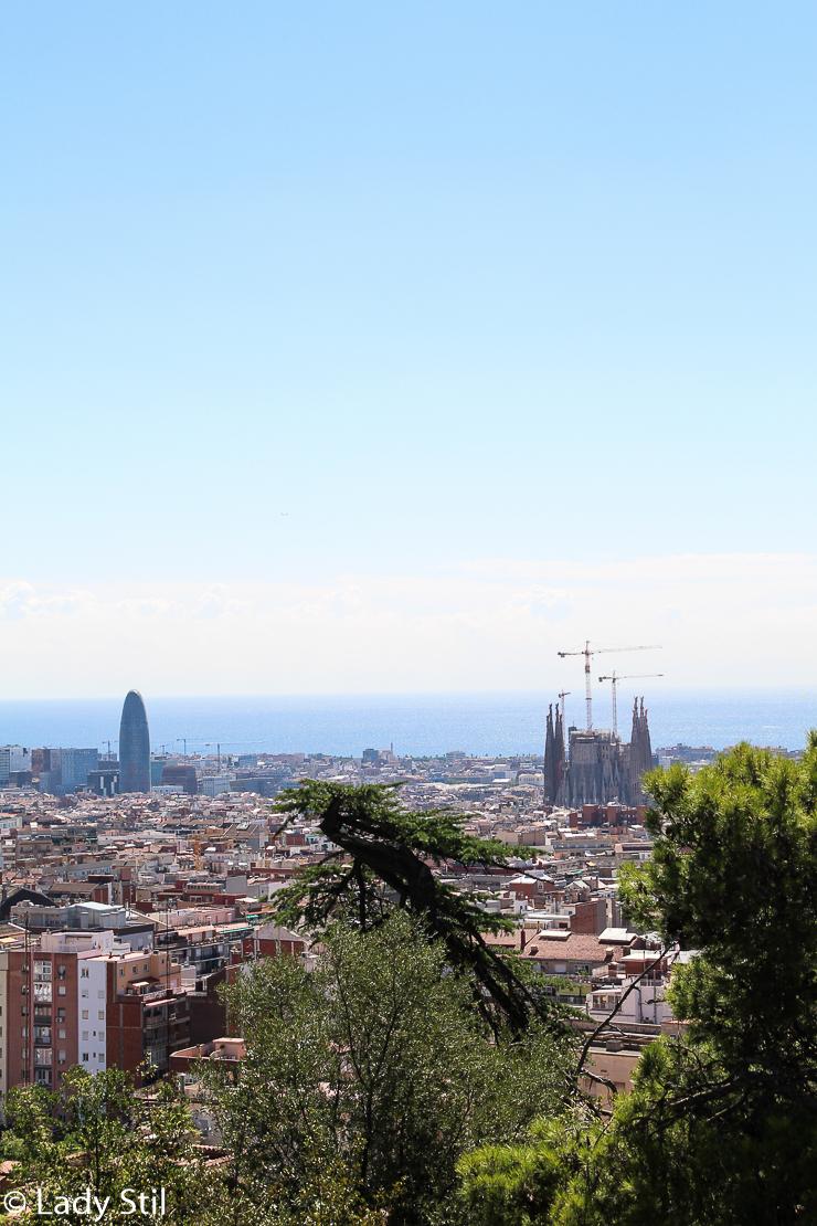 Barcelona Park Güell von oben