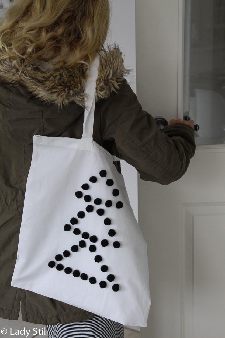 Last Minute Geschenk Weihnachten DIY Einkaufstasche Stoff