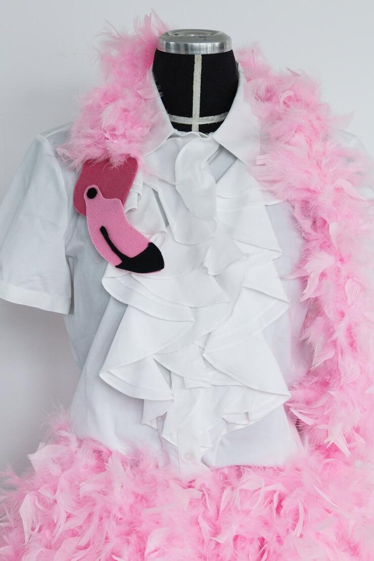 Last Minute Karnevalskostüm Flamingo