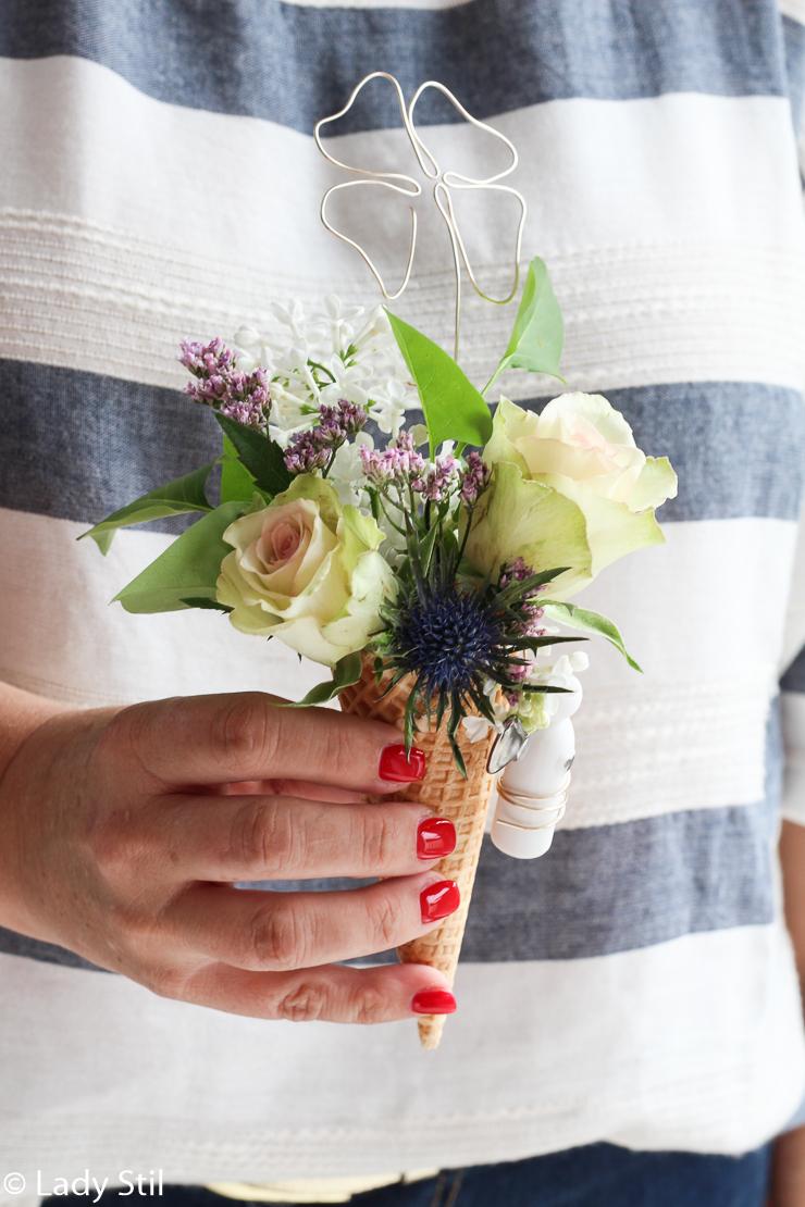 DIY Blumeneis, Glücksbringer aus Draht, Schutzengel