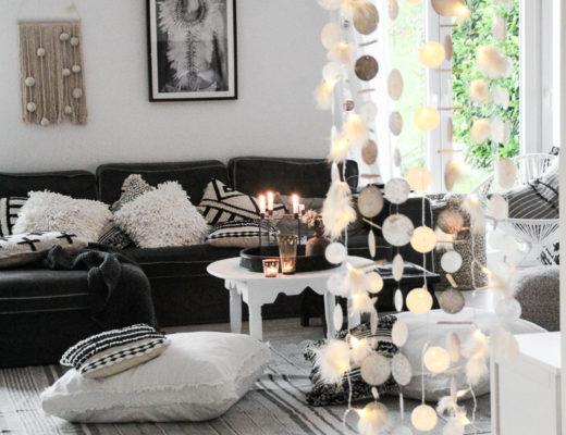 DIY Muschelvorhang Raumteiler
