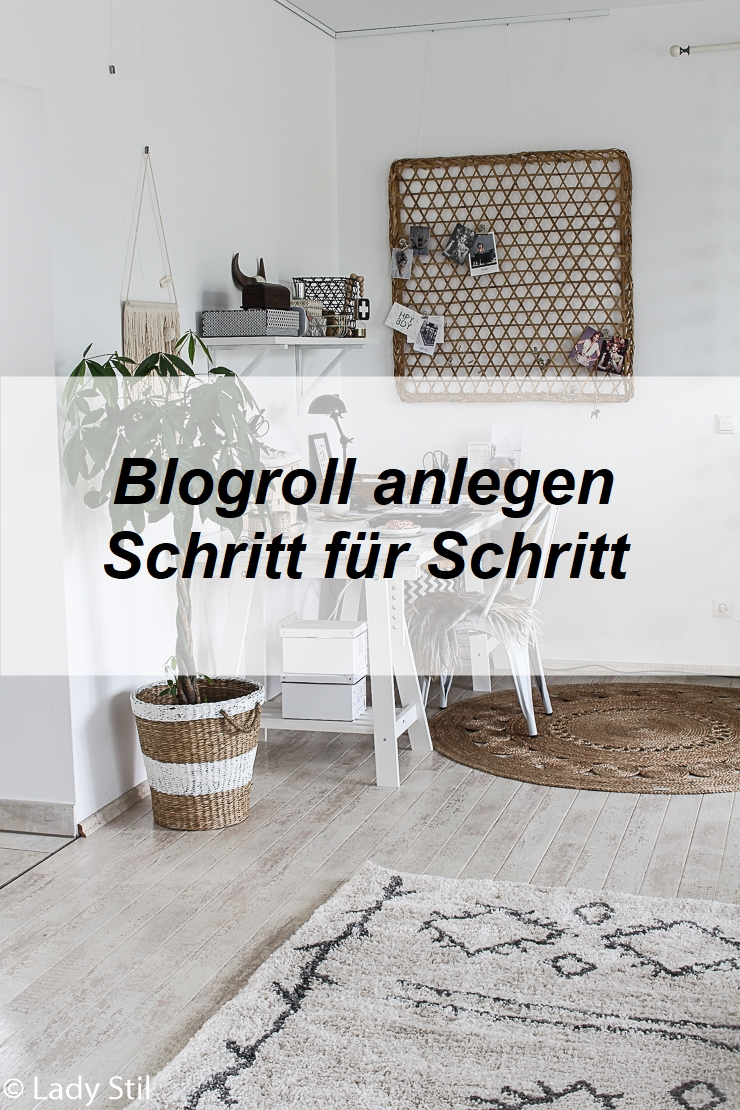 Blogroll einrichten Schritt für Schritt Anleitung mit Bildern