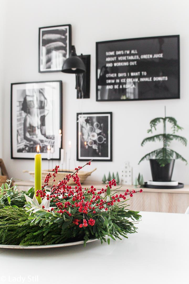 DIY Kranz rote Beeren Ilex, Adventskranz
