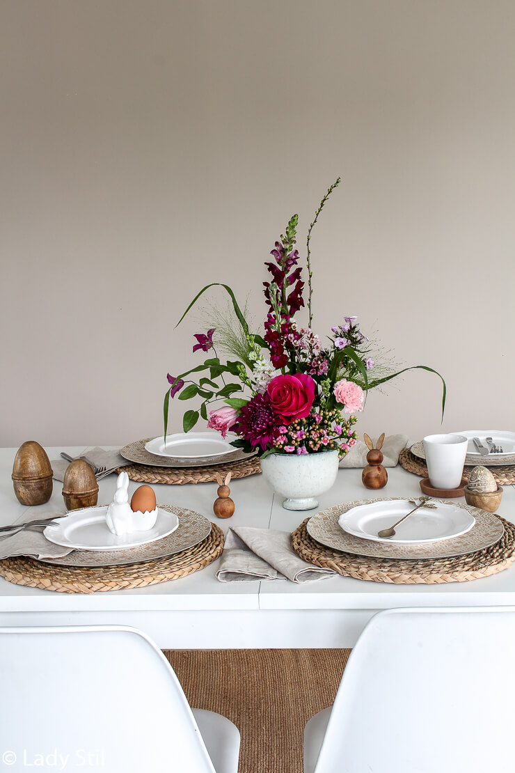 Tischdeko Blumengesteck DIY Centerpiece