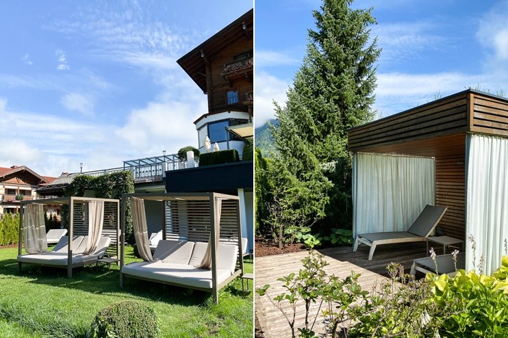 Hotel Sonnhof adults preferred Österreich Pool Gartenanlage Daybeds Wellness