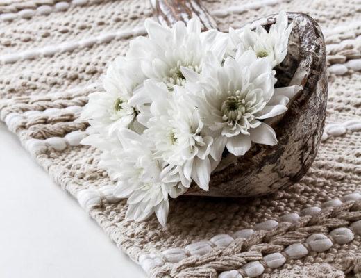 Blumige Blumen Herbst Tischdeko im Löffel