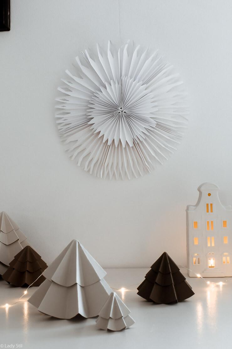 Papiersterne faltenn DIY Origami