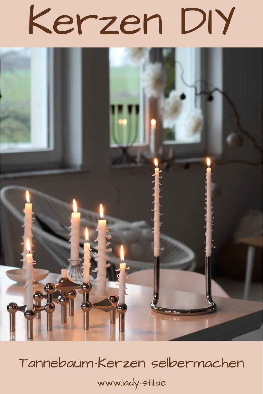 Kerze schnitzen Tannenbaumkerze DIY