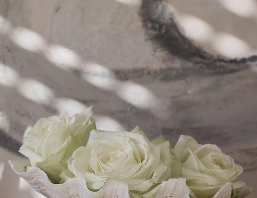 DIY Ideen mit Blumen Muschelvase